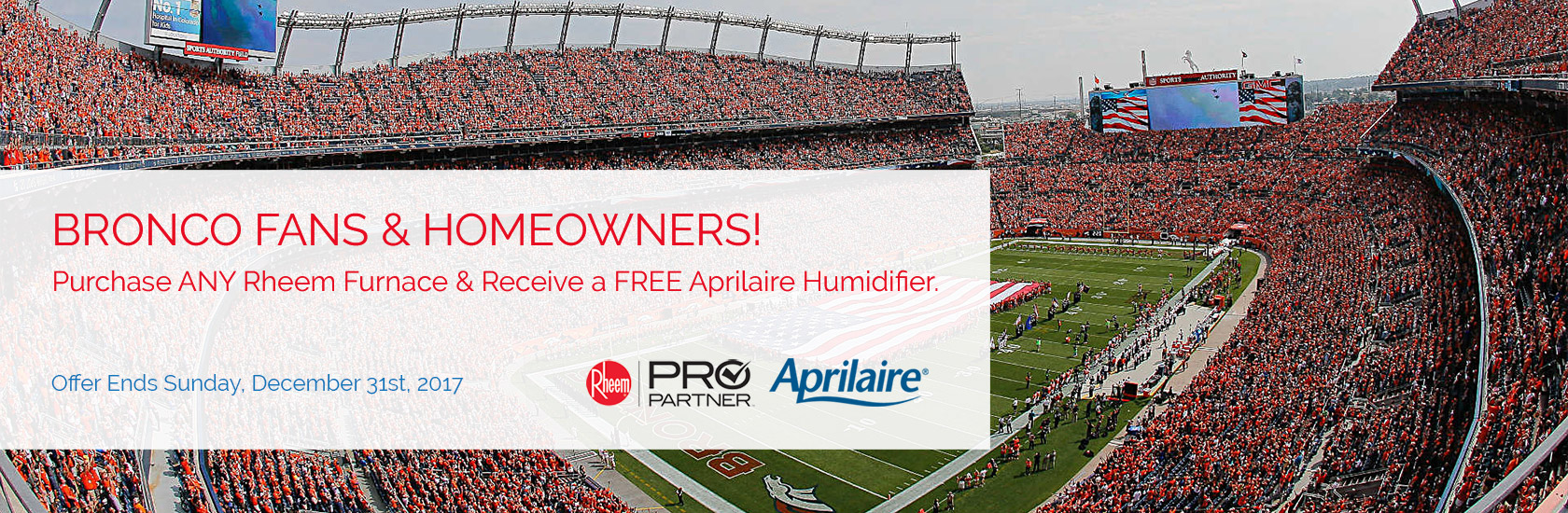 FREE Aprilaire 600M whole-home humidifier with the purchase of ANY Rheem furnace